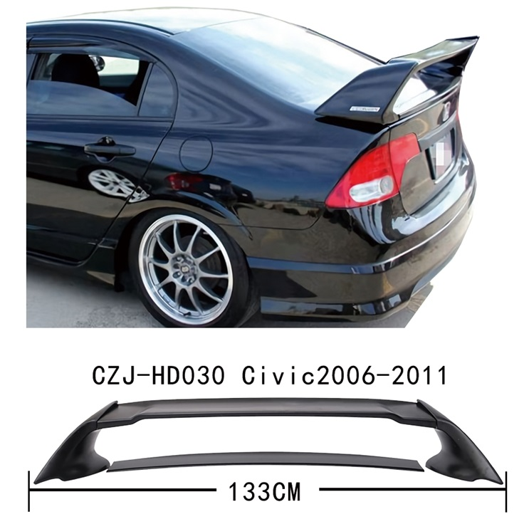 czj-hd030 FOR civic 2006-2011 mugen spoiler