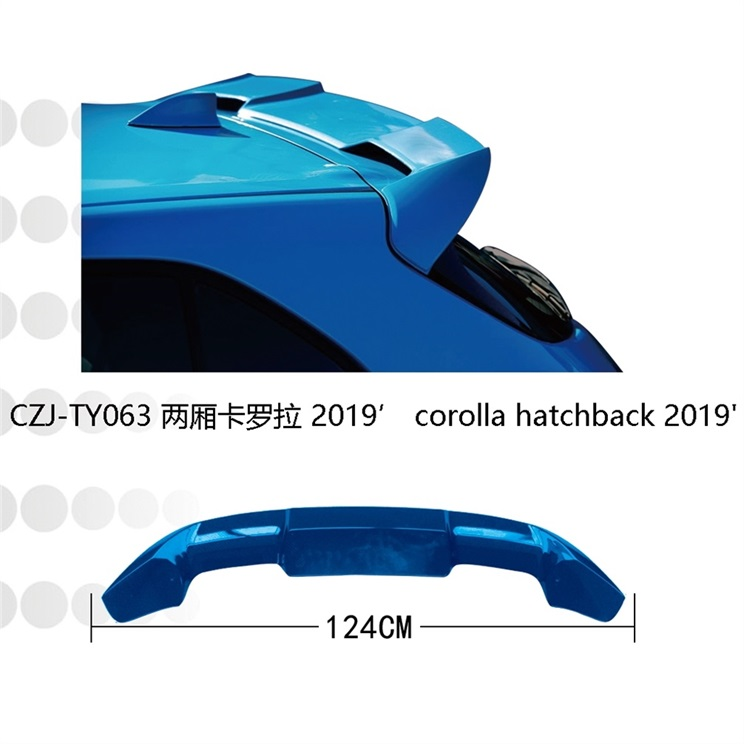 czj-ty063 spoiler for corolla hatchback 2019